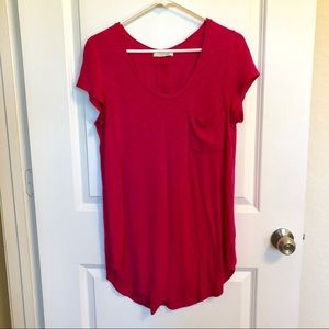 Anthropologie Pink Tunic Flowy Top